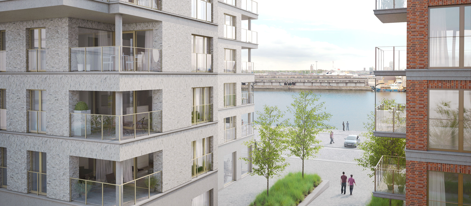Baelskaai Oostende / Prachtige nieuwbouwappartementen met zicht op zee